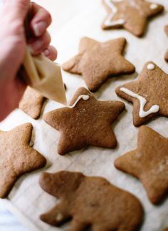 Lemony gingerbread cookie icing - cookieandkate.com