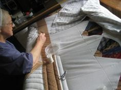 Custom Quilt In process - AmishQuilter