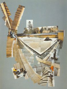 collage by David Hochney David Hockney Photography, Art Photography, Photomontage, David Hockney Joiners, Make A Photo Collage, Pop Art Movement, Architecture Collage, Postcard Art, Collage Design