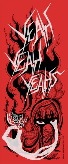 yeah yeah yeahs  music gig posters | poster for the gig in Paris 30th of april 2009 - Yeah Yeah Yeahs Photo ...
