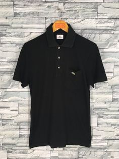 debb9859651 LACOSTE Polo Shirt Medium Mens Vintage 1990 s Chemise Lacoste Casual  Streetwear Lacoste French Black
