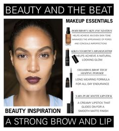 """""""Beauty And The Beat - A Strong Brow And Lip"""" by latoyacl ❤ liked on Polyvore featuring beauty, NARS Cosmetics, Bobbi Brown Cosmetics and Smashbox"""