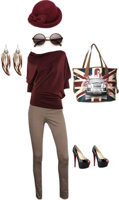 """burgundy"" by paddyvenket on Polyvore"