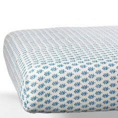 Booti Blue Organic Crib Sheet