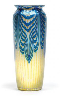 """** Johann Lötz Witwe, Klostermühle, Iridescent Glass Vase. Decor: """"Phänomen Gre 2/187"""""""