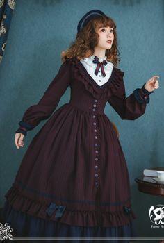 Kawaii Fashion, Lolita Fashion, Hijab Fashion, Fashion Outfits, Estilo Lolita, Pretty Outfits, Pretty Dresses, Beautiful Dresses, Victorian Fashion