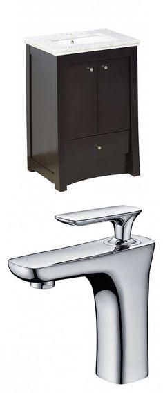 AMERICAN IMAGINATIONS Elite Rectangle Floor MountSingle Hole Center Faucet Vanity Set. #ad http://shopstyle.it/l/qMi6
