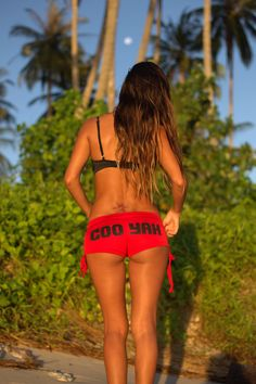 Lost in paradise with Lucia Power wearing Cooyah in Indonesia. Cooyah skimpy shorts $22 at cooyah.com #Reggae #paradise #Bali