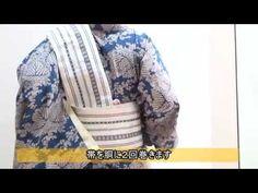 浴衣に最適。半幅帯の結び方(角だし風)『七緒』 - YouTube