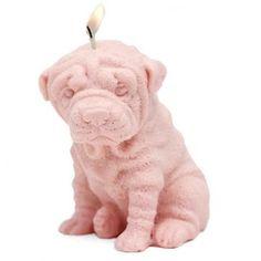 Molde para hacer velas perro Shar pei