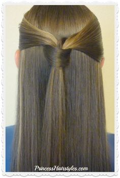Windsor tie half up hairstyle, video tutorial. Quick Hairstyles For School, Fast Hairstyles, Easy Hairstyles For Long Hair, Sleek Hairstyles, Everyday Hairstyles, Hairstyle Ideas, Hairstyle Tutorials, Step Hairstyle, Hairdos