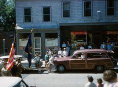 Parade past Cappys Barber Shop. Wagons in vintage Street scenes - Page 286 - Station Wagon Forums