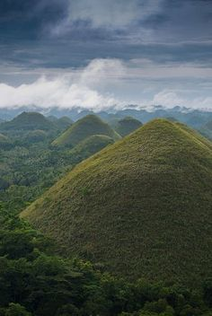Famous Chocolate Hills in Bohol - Visayas, Philippines