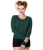 Banned Plain Cardigan (Forest Green)