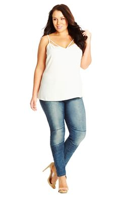 City Chic New Yorker Skinny Jeans - Women's Plus Size Fashion City Chic - City Chic Your Leading Plus Size Fashion Destination #citychic #citychiconline #newarrivals #plussize #plusfashion