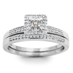 1/4ct Princess Diamond Bridal Set - Save now, only size 6 1/2 available.