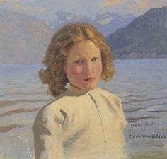 Portrait of Caroline Olsdatter, 1896 - Hans Dahl