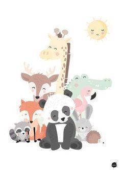 Tierfamilie A4 - #A4 #plakat #Tierfamilie