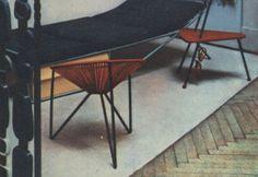 Fotel muszla Witolda Popławskiego, 1958, Ogólnopolski Salon Architektury Wnętrz w Krakowie.