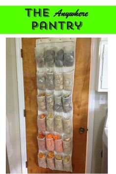 With limited space and a desire to organize and portion control snacks this homeowner came up with a smart idea to add pantry space anywhere!
