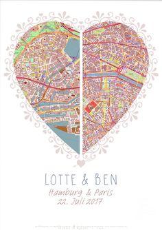 Romantische Valentinstagskarte/ romantic valentine's day card made by Galerie im Wandel via DaWanda.com