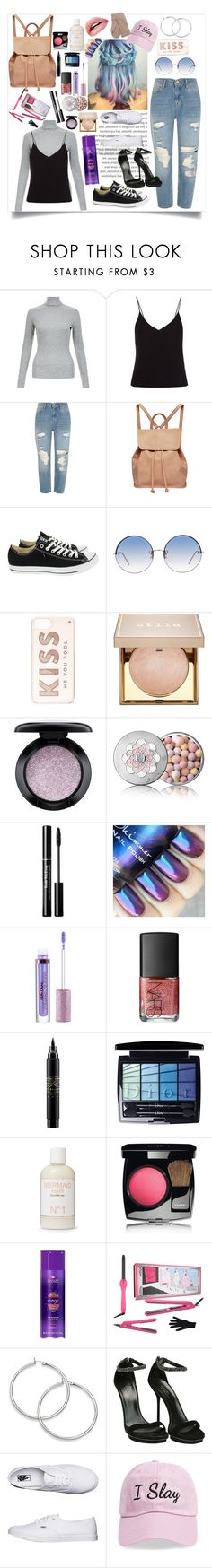 """""""Slay all day"""" by styler13522 ❤ liked on Polyvore featuring T By Alexander Wang, River Island, Urban Originals, Converse, Linda Farrow, Kate Spade, Stila, MAC Cosmetics, Guerlain and NARS Cosmetics"""