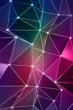 iPhone 4 Wallpaper Color purple triangles lights parallax