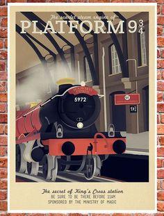 Retro Harry Potter posters