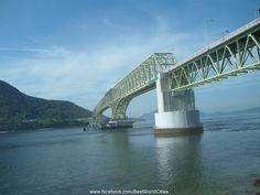 Bridge at Miyajima, Japan.