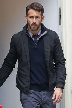 Ryan Reynolds looked serious (and yet still adorable) while filming in London on Sunday.