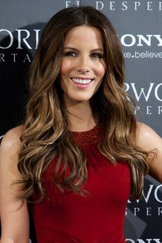 love the highlights!  Kate Beckinsale Hair