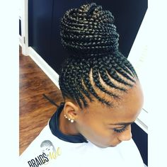 Braided Cornrow Hairstyles, Cornrows Updo, Feed In Braids Hairstyles, Black Girl Braided Hairstyles, Black Girl Braids, Braids For Black Hair, Natural Hair Twists, Natural Hair Styles, Feed In Braids Ponytail