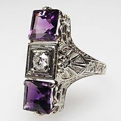 This brilliant purple moves me to worship. And it's Art Deco, which is one of my favorite styles for home and jewelry.