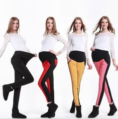 3497e3a23d0 Plus Size Pants Maternity Clothes Winter Women High Waist Thicken Down Pants  Elasticity Warm Pregnant Lightweight