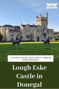 Lough Eske Castle Hotel in Donegal is the only hotel in County Donegal. And, BONUS, this is a castle hotel that won't break your budget. Ireland Vacation, Ireland Travel, Galway Ireland, Cork Ireland, Castle Hotels In Ireland, Castles In Ireland, Cool Places To Visit, Places To Go, Ireland Landscape
