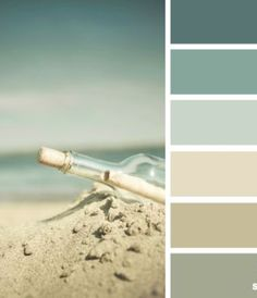 Beach Colors...I have found myself drawn to this color scheme lately. It would look fantastic in a bathroom with lots of natural light shining in.