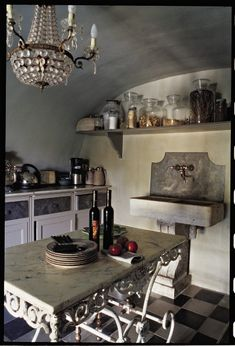 Paris Kitchen w/ baker's table. Country French Antiques: February 2009