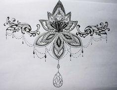 under boob sternum tattoo designs - Google-Suche