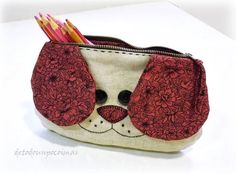 Bags, Your marketplace for unique, vintage and handmade products Sewing Crafts, Sewing Projects, Animal Bag, Diy Clutch, Fabric Bags, Quilted Bag, Pencil Pouch, Kids Bags, Little Gifts