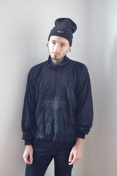 BLACK SWEATER -gothic, hipster, 90s, 80s, club kid, hip hop, vaporwave, cyber, festival, aesthetic, vetements, jumper, jacket, long sleeve-