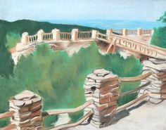 Art III - 11th grade: Summer Landscape in chalk pastel (summer assignment).
