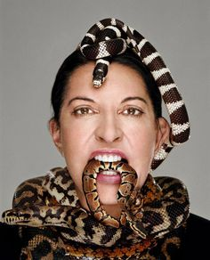 Marina Abramovic - Performance Artist. She's wild, but she's a genius.