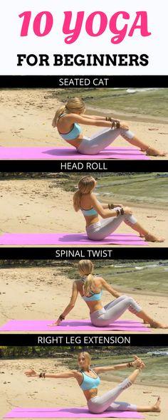 10 Yoga Moves for the Beginners Full Body - fitness - yoga for beginners