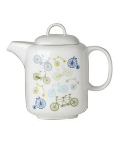 Look what I found on #zulily! 40-Oz. Bicycle Teapot #zulilyfinds