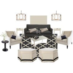 Gray Living Room, created by glassbirdhome on Polyvore