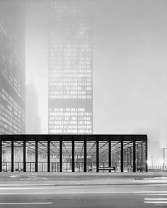 (Toronto Dominion Center, by Mies van der Rohe, Photo by Balthazar Korab taken in Balthazar Korab, one of the leading architectural photographers in the period after World War II. Ludwig Mies Van Der Rohe, Bauhaus, Gothic Architecture, Interior Architecture, Toronto Architecture, Architecture Panel, Building Architecture, Architecture Portfolio, Luigi Snozzi