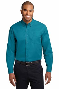 Port Authority Mens Easy Care Blend Long Sleeve Button Down Shirt (Tall Sizes) TLS608
