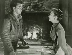 Cameron Mitchell and Anne Baxter in The Outcasts of Poker Flat, 1952