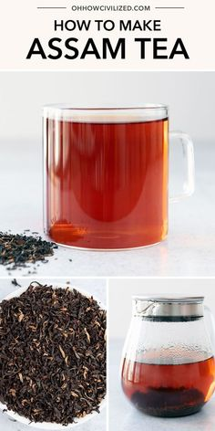 This tea guide from Oh, How Civilized is perfect for making the best Assam tea. Assam tea is a black tea that's so delicious anytime. Whether you like it hot or cold, it's a great choice for everyday drinking! #tea #blacktea #teaguide #assamteaguide Hot Tea Recipes, Raspberry Iced Tea, Making Iced Tea, Perfect Cup Of Tea, Tea Sandwiches, Brewing Tea, How To Make Tea, Drinking Tea, Afternoon Tea