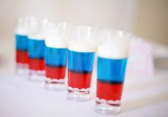 4th of july jello shots { red white and blue }